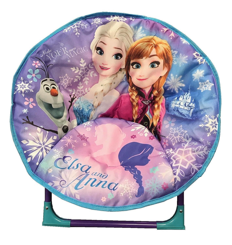 just 4 baby Kids Children Foldable Bedroom Play Room Moon Chair Moonchair Purple Frozen Design
