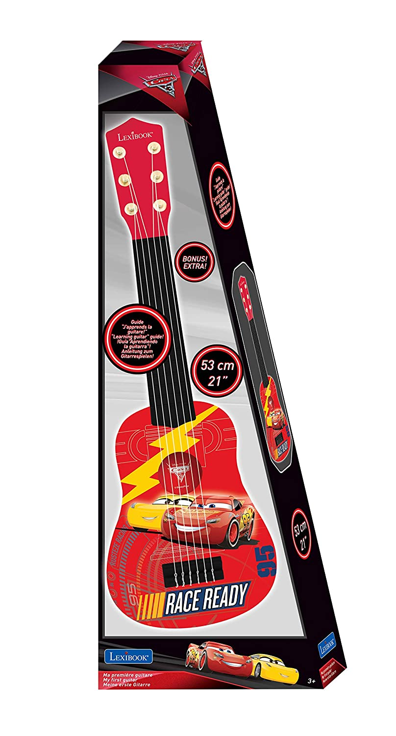 Amazon.com: LEXiBOOK Disney Pixar Cars Lightning McQueen My First Guitare, 6 Nylon Strings, 53 cm, Guide Included, red / Black, K200DC: Toys & Games