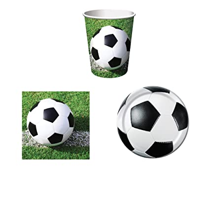 Creative Converting Sports Fanatic Soccer Party Supplies Set for 16: Plates, Napkins, and Cups: Toys & Games