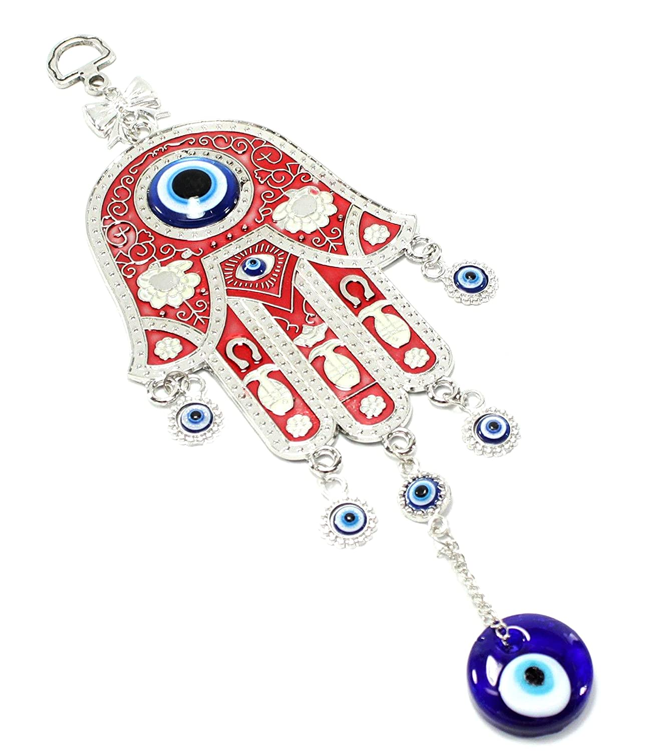Amazon turkish blue evil eye nazar red hamsa hand amulet amazon turkish blue evil eye nazar red hamsa hand amulet wall hanging home decor protection blessing housewarming birthday gift us seller home amipublicfo Gallery