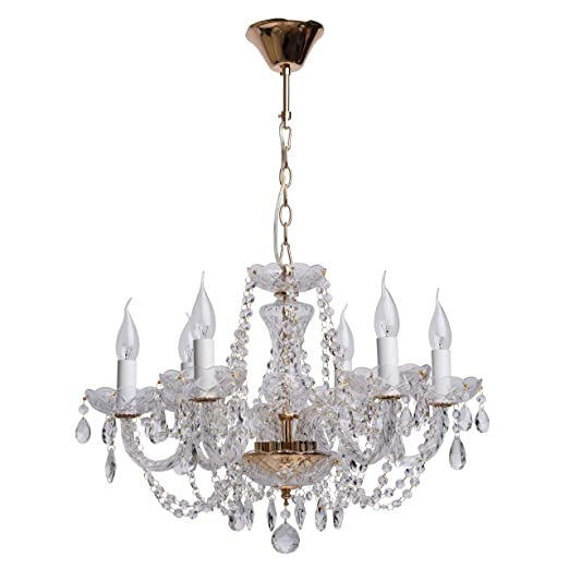 Mw Light 367012606 Lampadario Da Soffitto Metallo Colore Oro