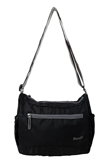 Buy Bendly Nylon Black Cross Body Sling Bag Online at Low Prices ...