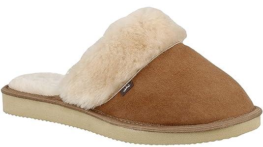 RBJ leather shoes Damen Lammfell Hausschuhe Echtleder Pantoffeln
