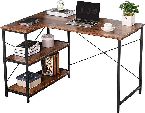 JJS L-Shaped Home Office Corner Writing Computer Desk