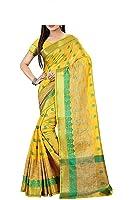 Vatsla Enterprise Women's Cotton silk Saree (VKERDIVA003LEMON_LEMON)