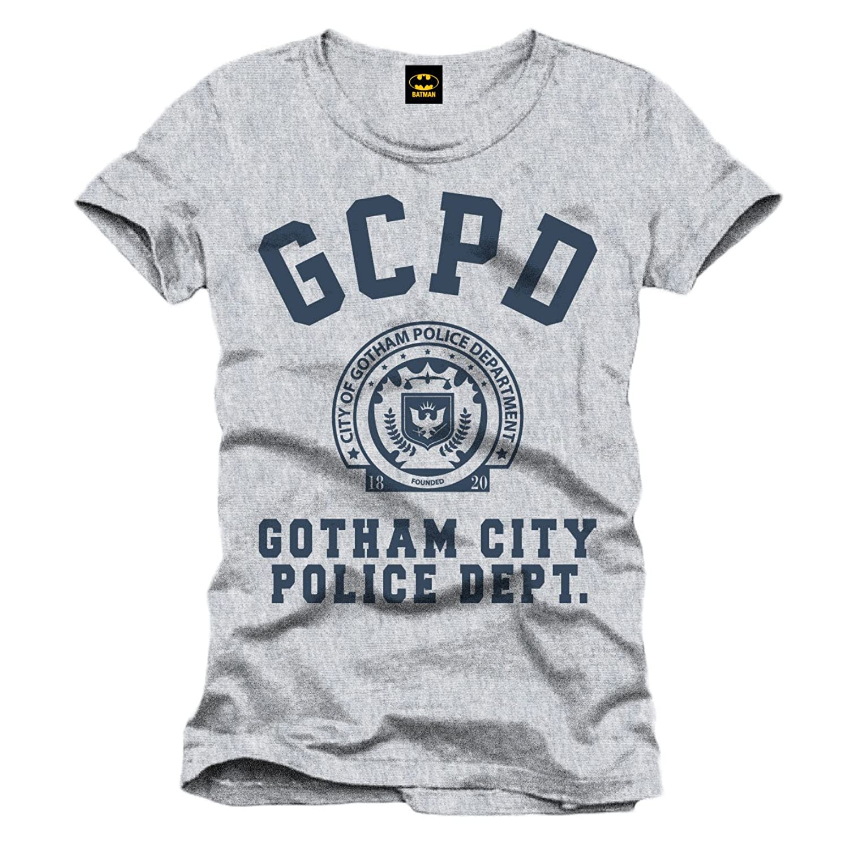 Batman T-Shirt Gotham City Police Department Logo (grau): Amazon.de:  Bekleidung