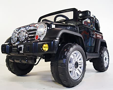 Amazon Com Kids Car Power Wheels Jeep Truck Style With Parent