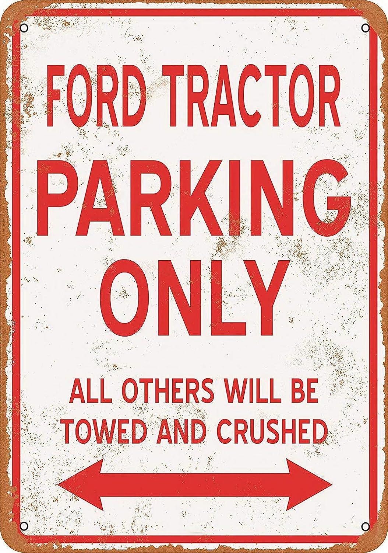 parking Radiancy Inc Ford Tracteur Parking Only Plaque murale d/écorative d/écorative vintage Mar/ée d/écorative pour chambre caf/é bar jardin