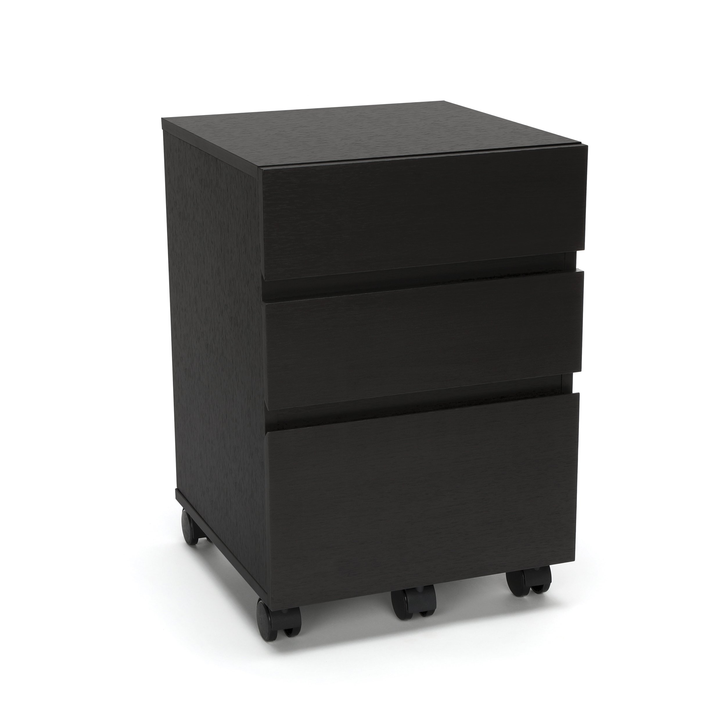 Essentials File Cabinet - 3-Drawer Wheeled Mobile Pedestal Cabinet, Espresso (ESS-1030-ESP) by OFM