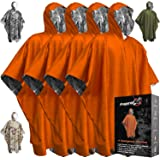 Emergency Blankets & Rain Poncho Hybrid Survival Gear and Equipment – Tough, Waterproof Camping Gear Outdoor Blanket – Retain