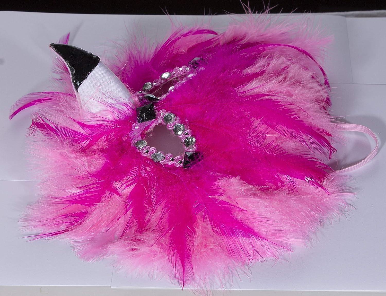 Jay Hats Fun and Tacky Felt Flamingo Carnival Mask w//Feathers /& Rhinestones