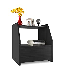 Forzza Bolt Side Table with Drawer (Wenge)