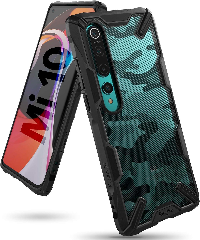 Ringke Fusion X Funda Diseñada para Xiaomi Mi 10, Xiaomi Mi 10 Pro (2020) - Camo Black