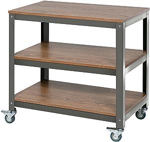 OneSpace Loft Companion Shelf with Steel Frame, Wood Surface
