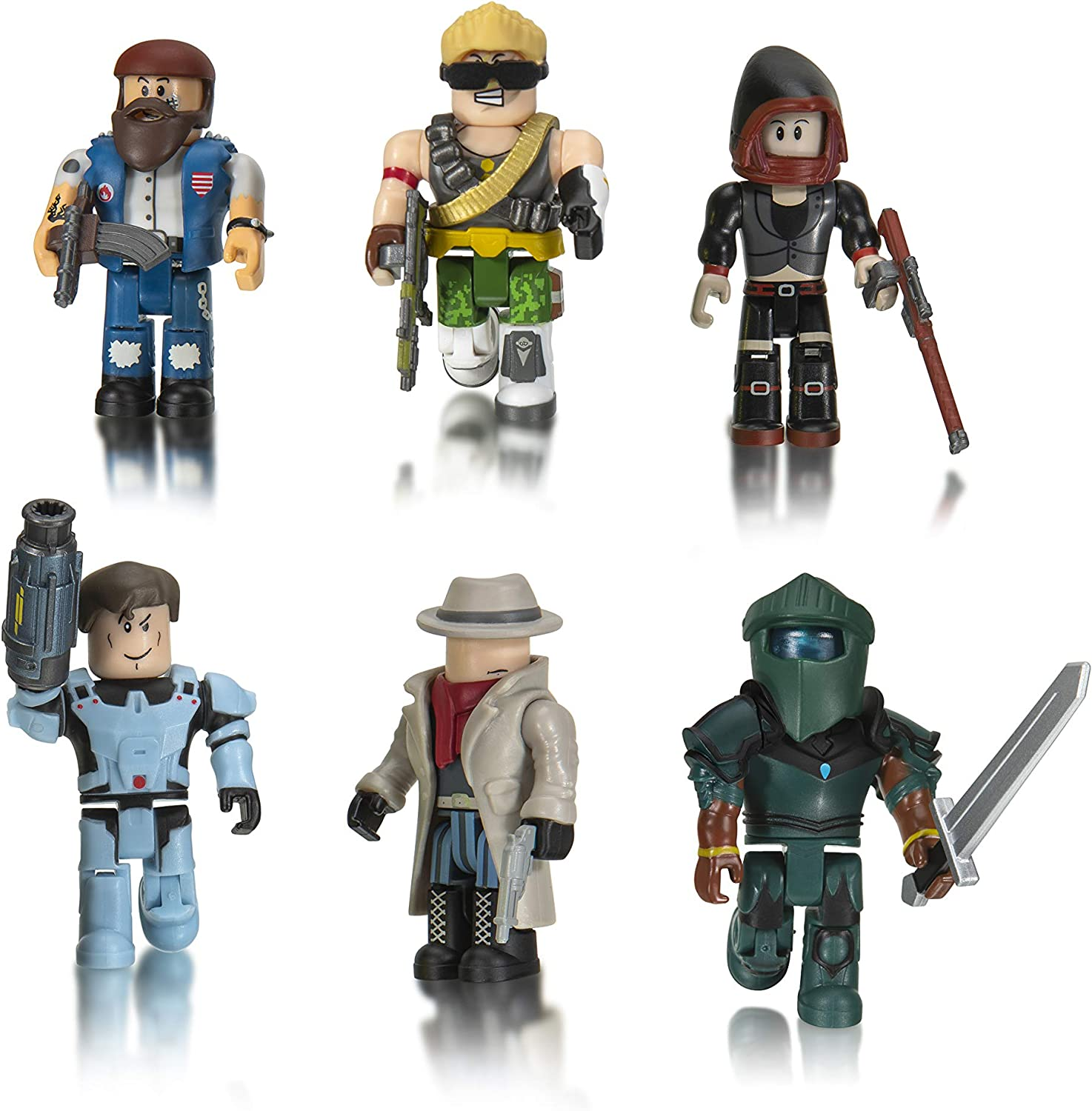 Roblox Action Collection - Q-Clash Six Figure Pack [Includes Exclusive Virtual Item]