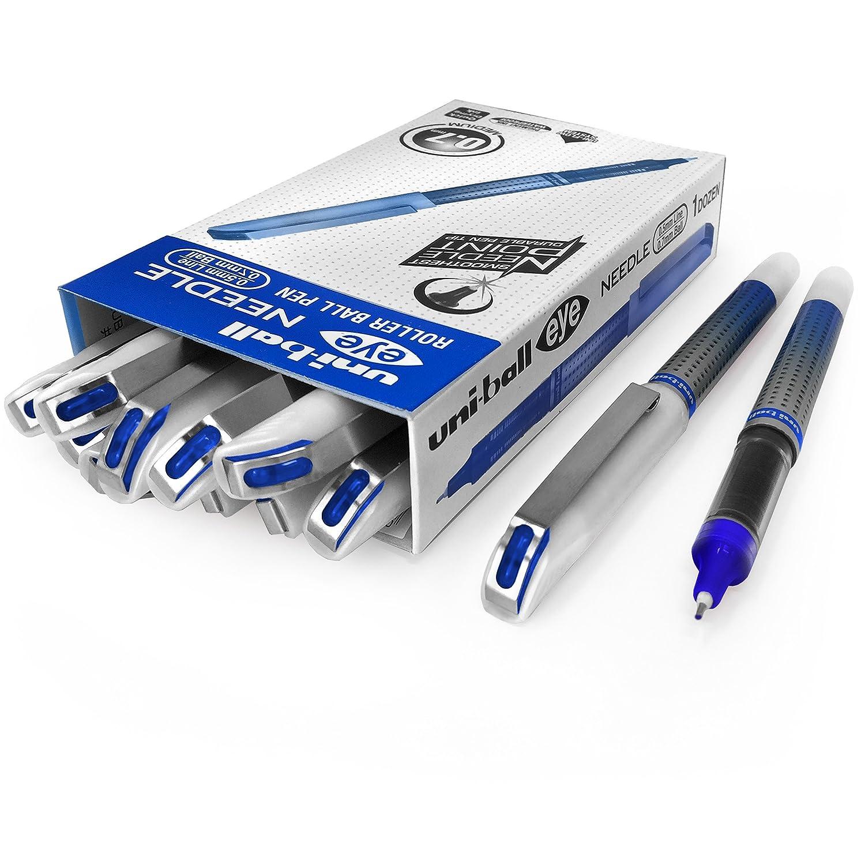 Uni-Ball ub-187s penna roller–0.7mm Needle Point–Confezione da 12–blu Uni-Ball-EYE
