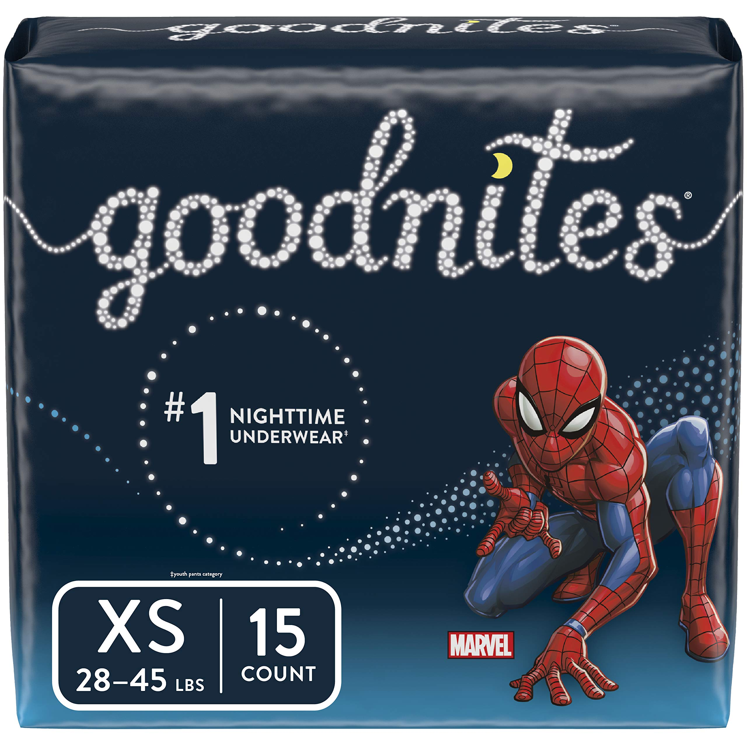 Goodnites Bedwetting Underwear for Boys, XS (28-45 lb.), 15 Ct, Jumbo Pack (Packaging May Vary) by GoodNites