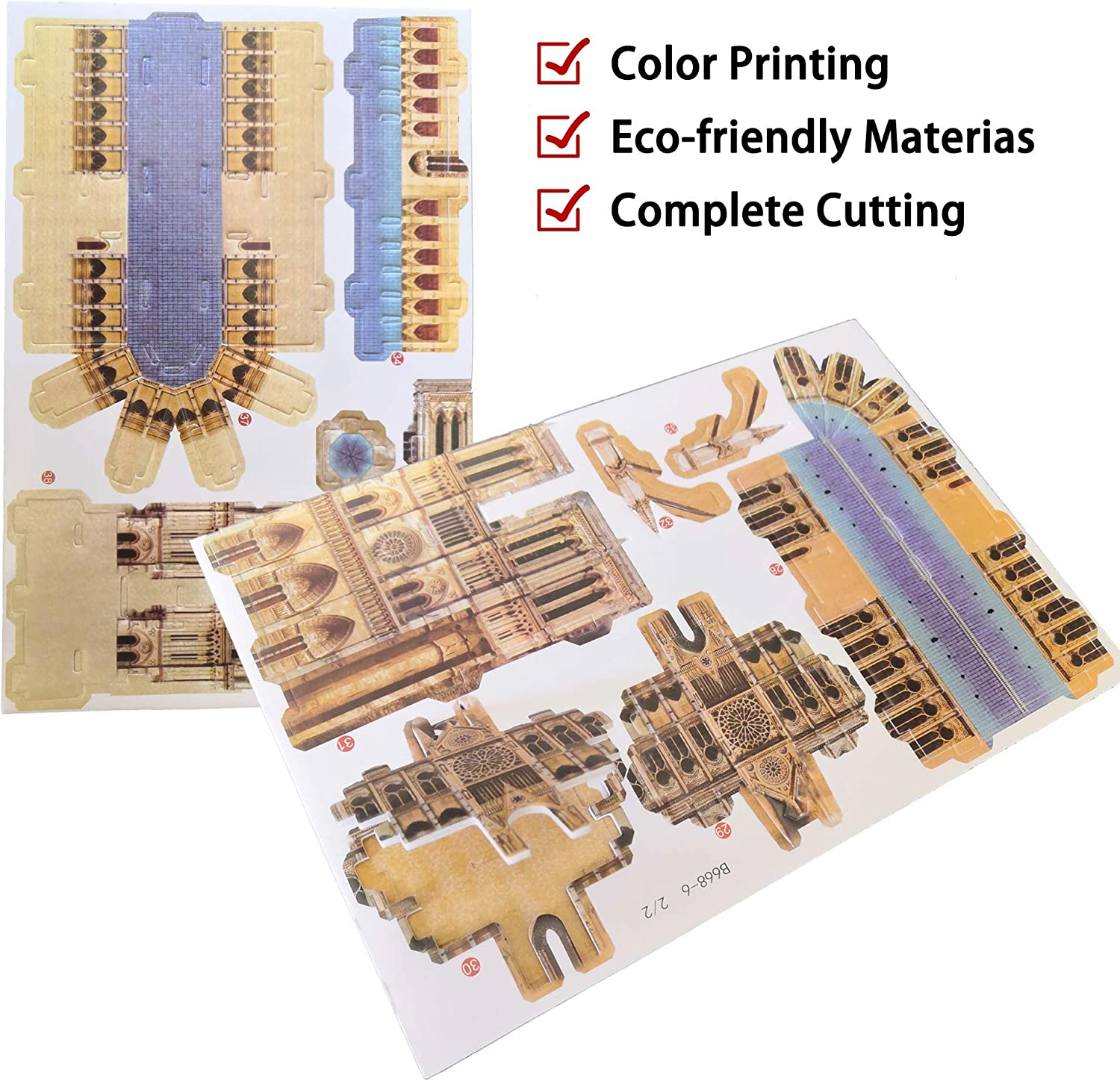 City Architecture Building Model Kit with Booklet DuoDuozw Puzzle 3D Jigsaw 24 Pieces The Empire State Building