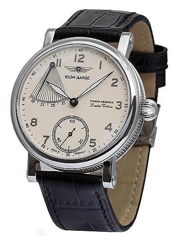 Iron Annie Hombre Reloj mecánico Cuerda Manual ETA Aniversario Modelo 30 años 5902 - 5: Amazon.es: Relojes