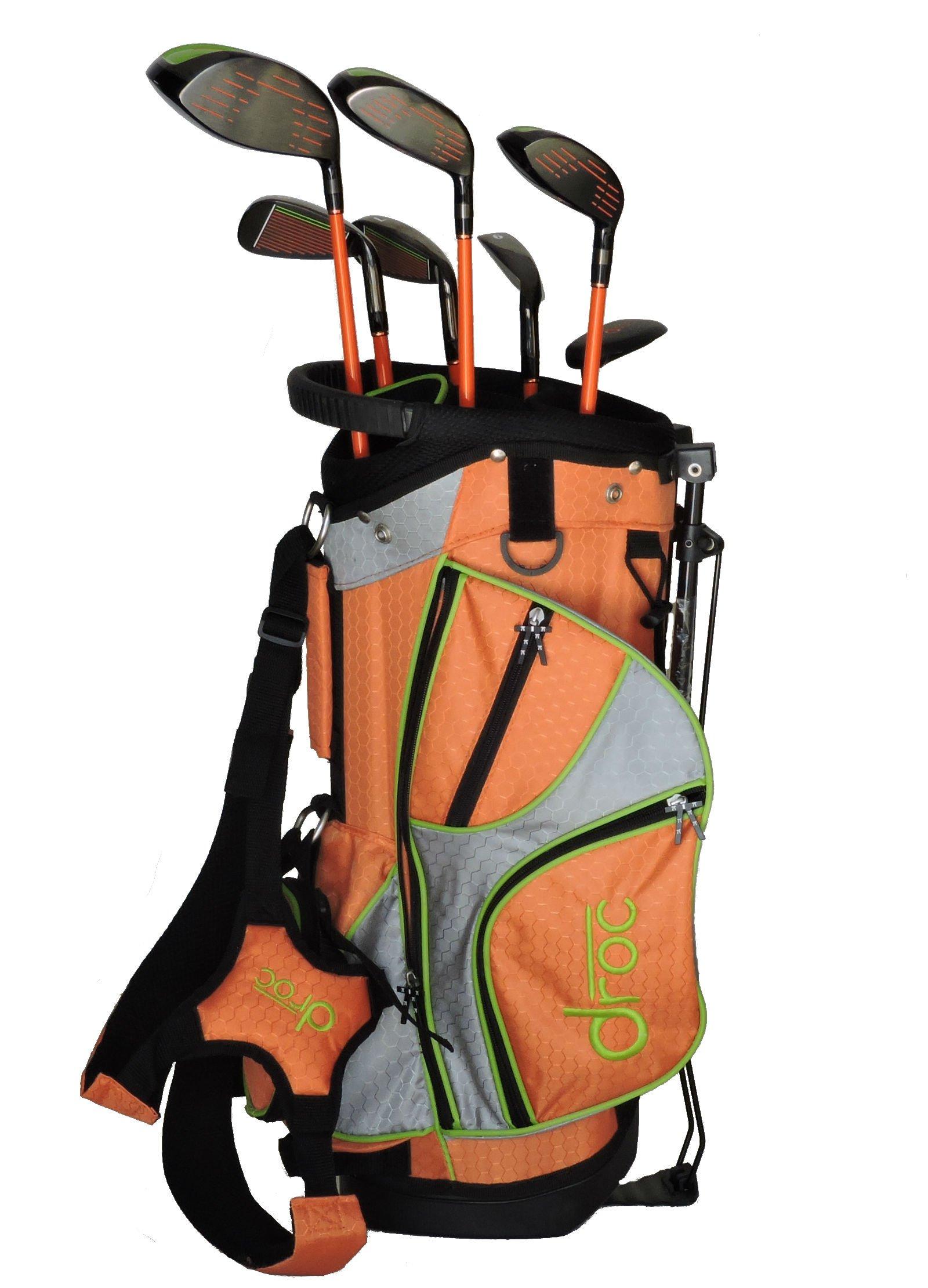 droc - Mica Left Handed Series 7 Pieces Golf Club Set & Golf Bag Ages 3-6 Left Handed (Titanium, Regular) by droc (Image #2)
