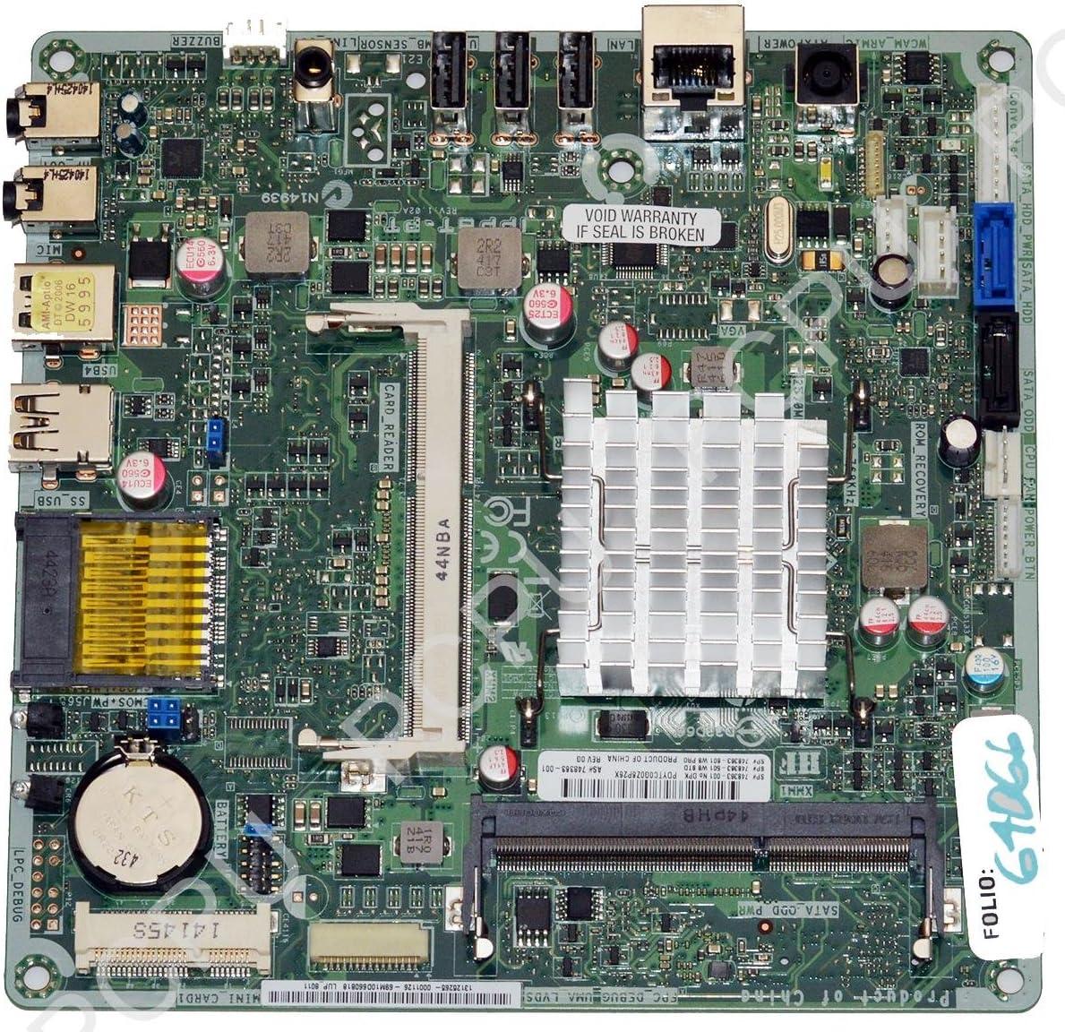 "748363-001 HP 19-2113W 19"" AIO Lupin-C Motherboard w/Intel Pentium J2900 2.67GHz CPU"