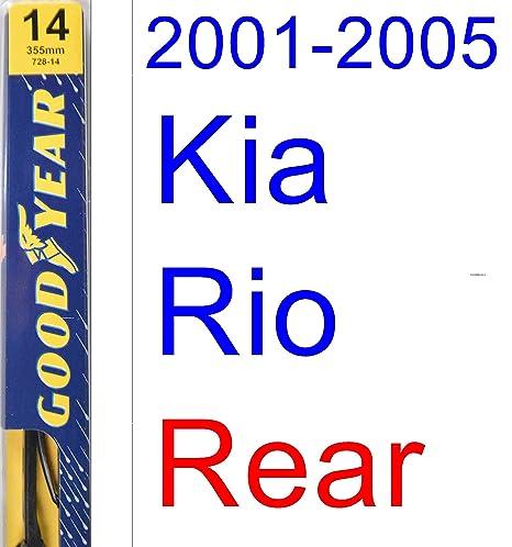 2001 – 2005 Kia Rio hoja de limpiaparabrisas de repuesto Set/Kit (Goodyear limpiaparabrisas