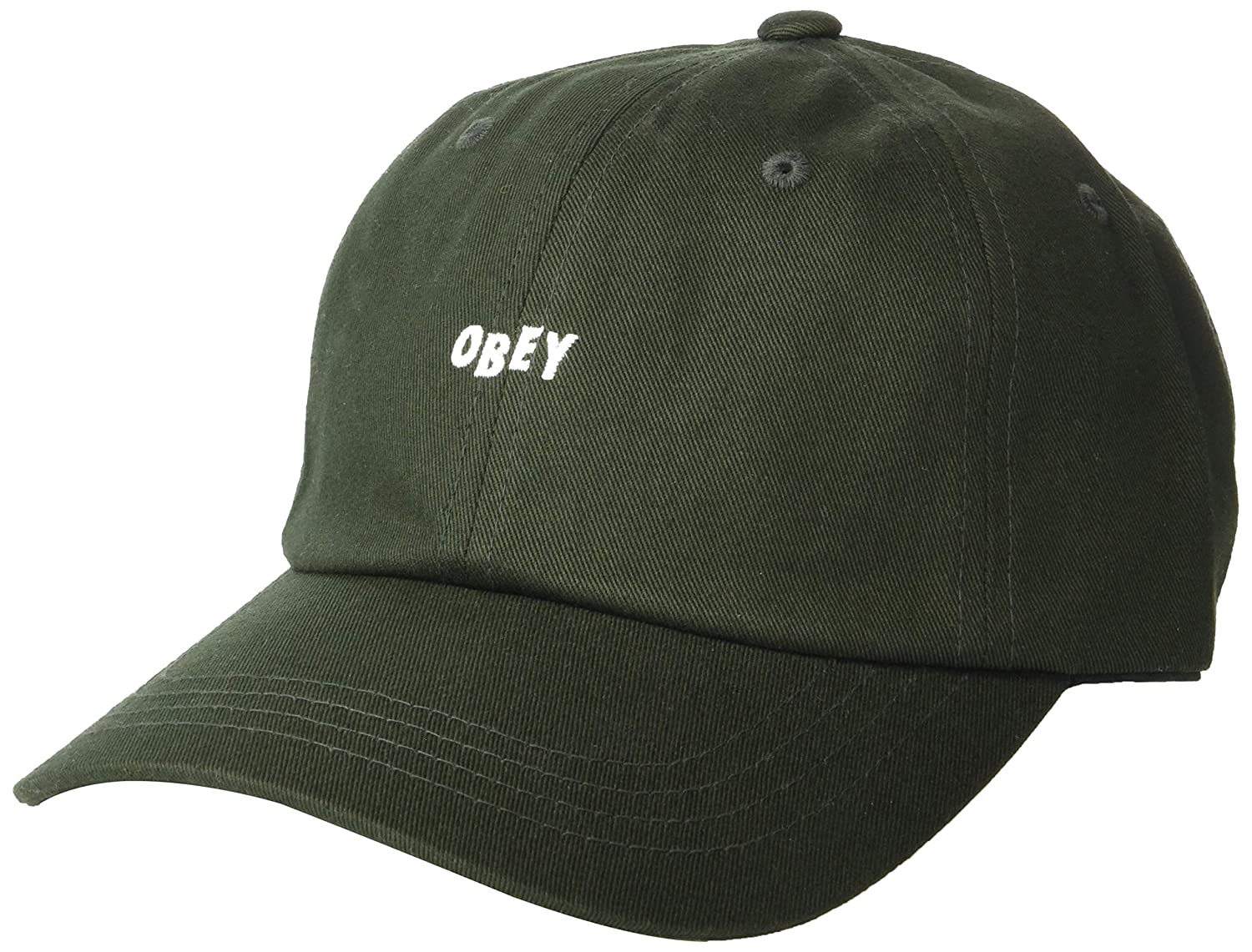 f1ba6ada15d Obey Men s Jumble Bar III 6 Panel Strapback Hat