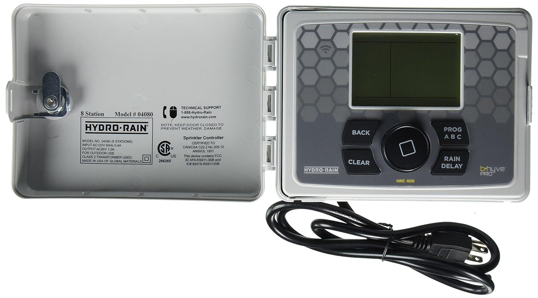Amazon.com : Hydro-Rain HRC 400 Indoor/Outdoor 8-Station Wi-Fi Smart  Irrigation Controller : Garden & Outdoor