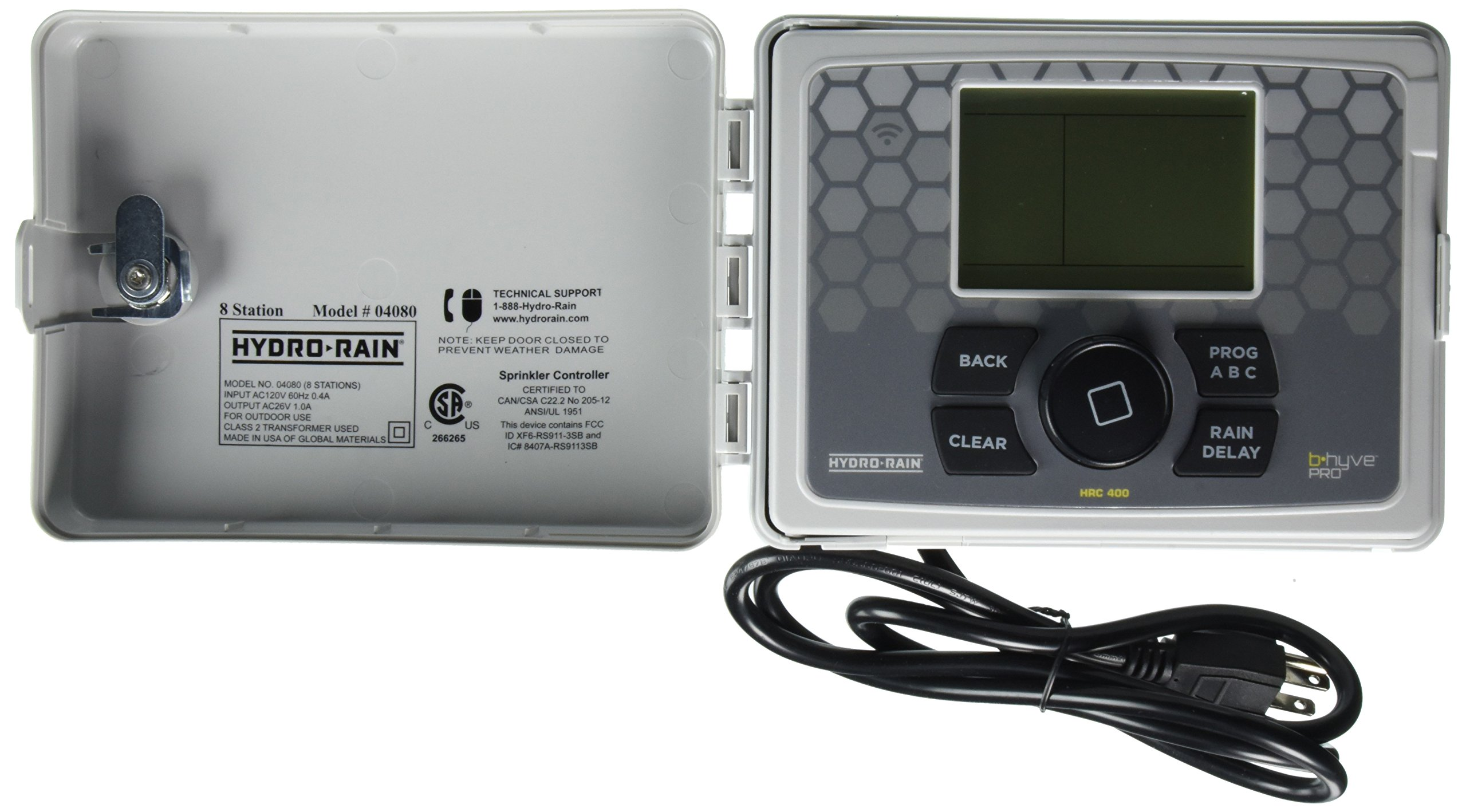 Hydro-Rain HRC 400 Indoor/Outdoor 8-Station Wi-Fi Smart Irrigation Controller