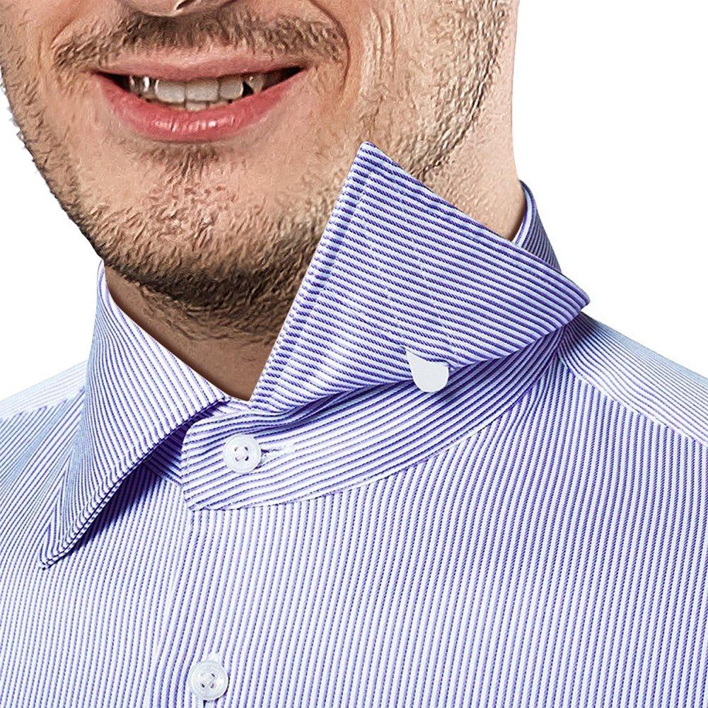 Pchero 20pcs Plastic White Collar Stays 3 Sizes 6pcs Metal Shirt