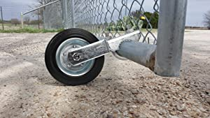 """Mofeez Gate Wheel for Metal Swing Gate with 1-5/8"""" Thru 2"""" Gate Frames, Gate Support Wheel for Chain Link Fence, Prevent Gate from Dragging"""