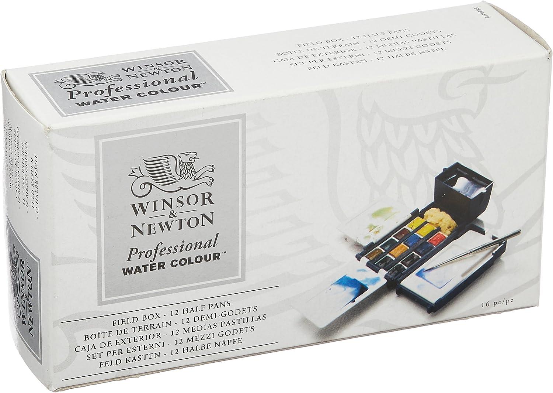 Winsor & Newton Profesional - Set caja de campo de 12 medio godets ...