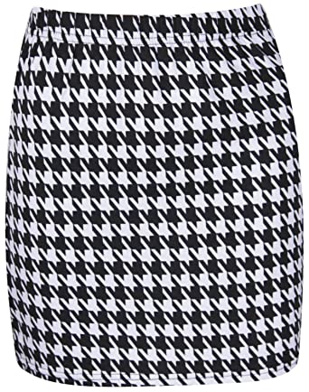 The Home of Fashion Womens Plus Size Black and White Dogtooth ...