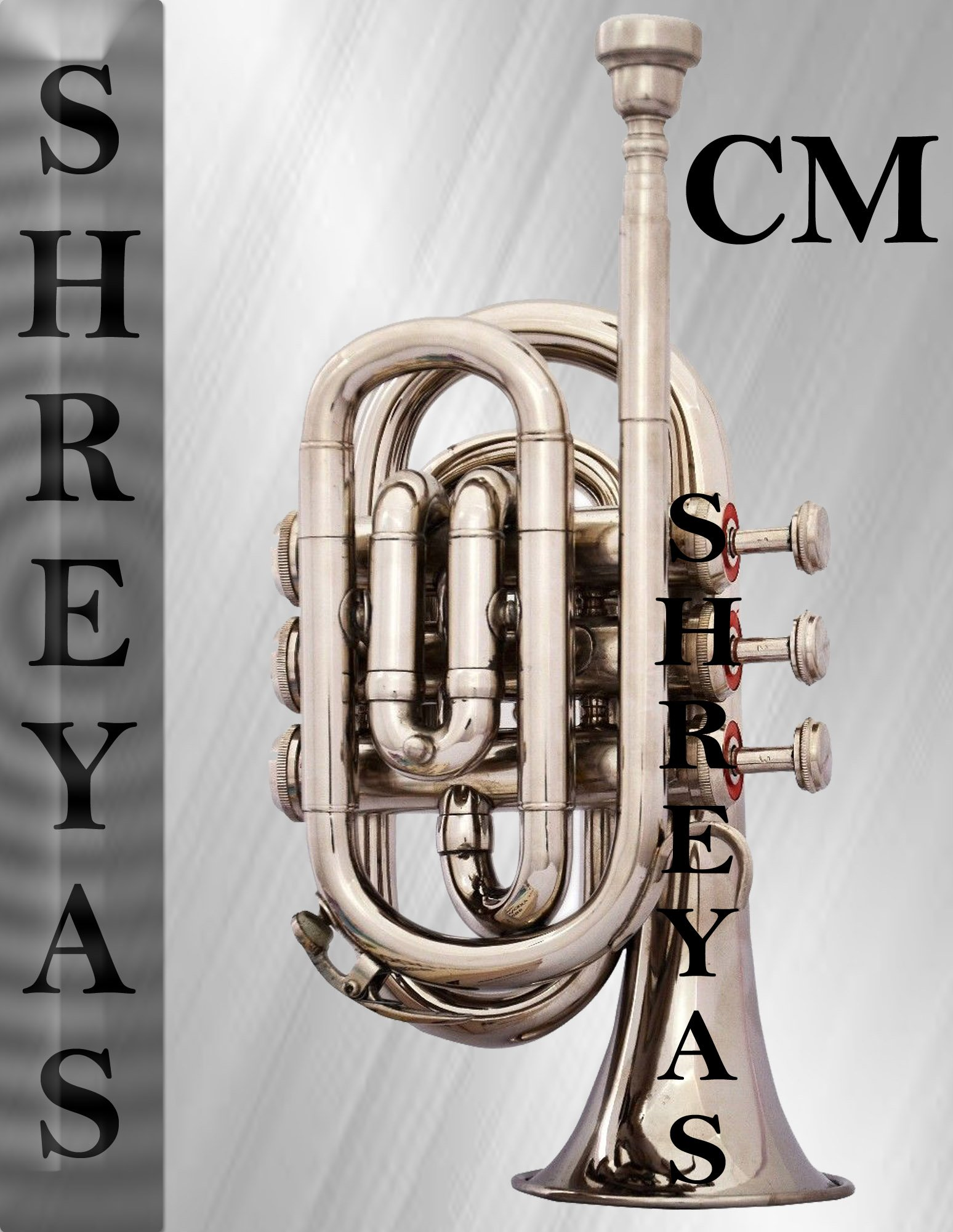 SHREYAS POCKET TRUMPET Bb NICKEL PLATED WITH BAG 7C MOUTH PIECE