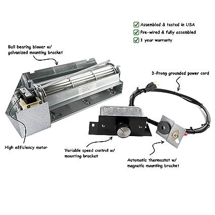 amazon com fireplace blower kit for lennox superior fbk 250; rotom Three-Speed Fan Motor Wiring Schematic fireplace blower kit for lennox superior fbk 250; rotom hbrb250