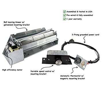Amazon.com: Fireplace Blower Kit for Lennox Superior FBK-250; Rotom #HBRB250: Home Improvement