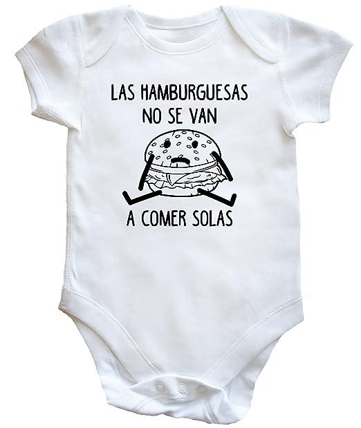 HippoWarehouse LAS HAMBURGUESAS NO SE VAN A COMER SOLAS body bodys pijama niños niñas unisex: Amazon.es: Ropa y accesorios
