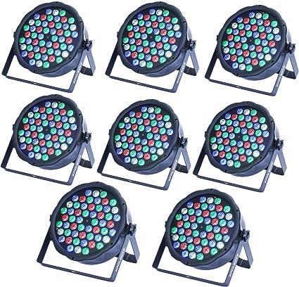 XPC LED Stage Lights 4pcs 54X3W LEDs RGBW Sound Activated DJ PAR ...
