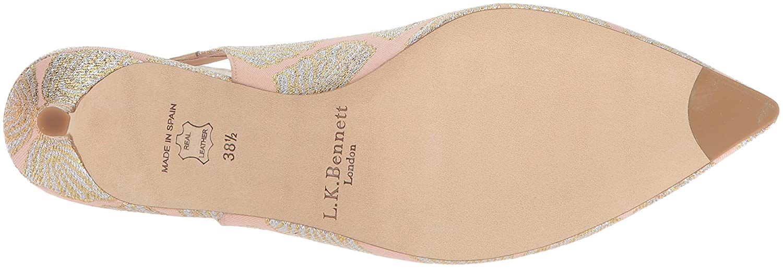 LK BENNETT Damen AVA Peeptoe Pumps Mehrfarbig (Ballerina 640) 640) (Ballerina 699888