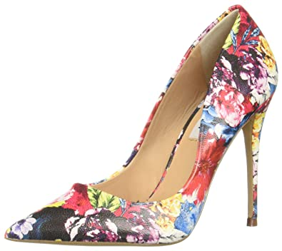 2ce435106b7e Image Unavailable. Image not available for. Color  Steve Madden Women s  Daisie Flower Multi Dress Closed 7 US
