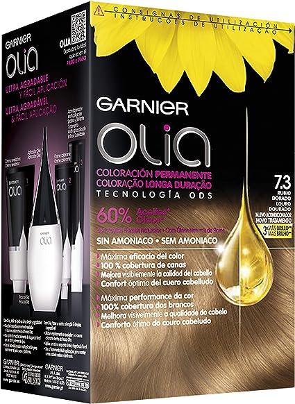 Garnier Olia - Coloración Permanente sin Amoniaco, con Aceites Florales de Origen Natural - Tono 7.3 Rubio Dorado