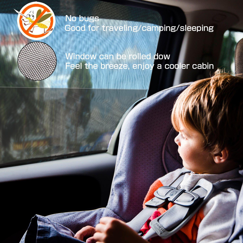 126 /× 52cm Passen Meisten Autos und SUVs 2 St/ück, L bedee Autofenster Sonnenblende Universelle Auto-Sonnen-Schutz mit UV Schutz f/ür Kinder//Baby//Pets Einfach zu Verwenden Sonnenschutz Auto