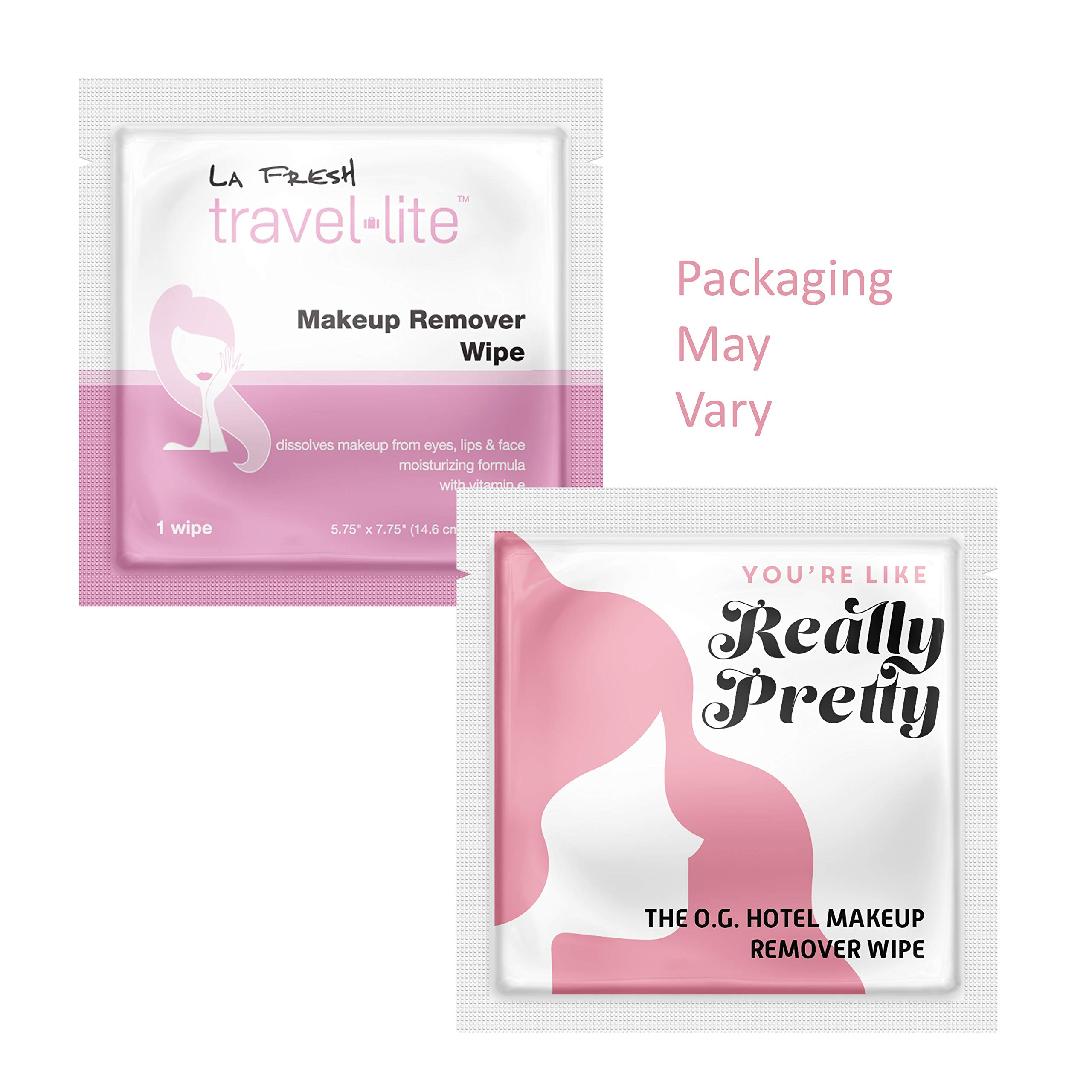 La Fresh Travel Lite Makeup Remover Cleansing Travel Wipes - Natural, Biodegradable, Waterproof, Facial Towelettes With Vitamin E - Individually Wrapped & Sealed (Pack of 200) by La Fresh (Image #3)