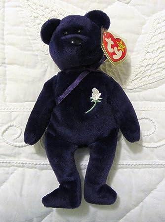 346c44e7da1 TY BEANIE BABY - Princess - lila Bär - ca. 21 cm  Amazon.de  Spielzeug