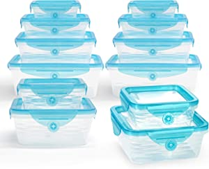 STRETCH and FRESH by Emson, Silicone Food Storage System, Airtight for Solid Food, and Leak-Proof for Soups and Sauces, Freezer-Safe, BPA-Free, As Seen On TV (24)