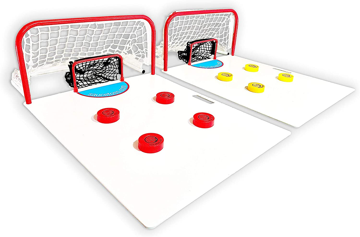 Sauce Toss: The Premium Hockey Sauce Pass Game for Playing, Passing, Training, Trick Shots and More - Tailgate Friendly and Portable Hockey Game, Supreme