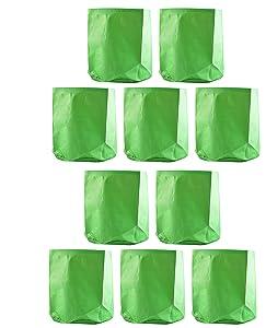 Evergreen Terrace Gardening Leafy Vegetable Green Grow Bag (12 X 12) - (Pack Of 10)