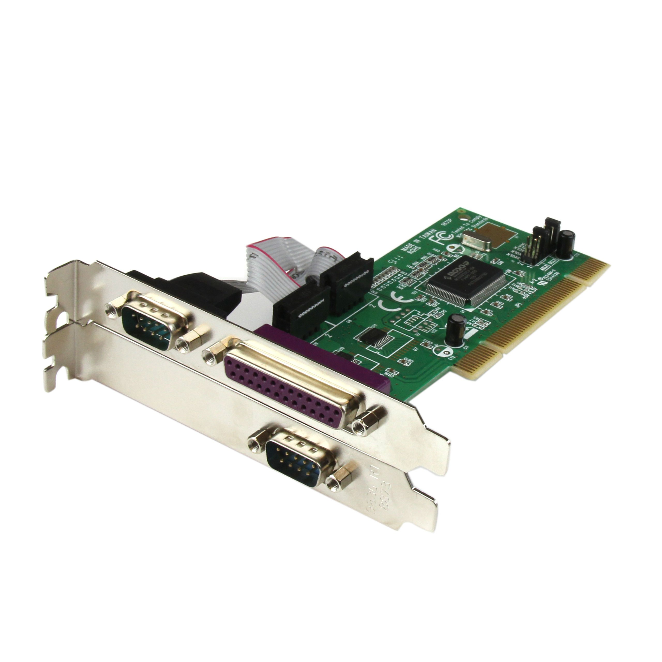StarTech.com 2S1P PCI Serial Parallel Combo Card with 16550 UART - IEEE 1284 Card - Serial Parallel PCI - PCI Serial Adapter  (PCI2S1P) by StarTech