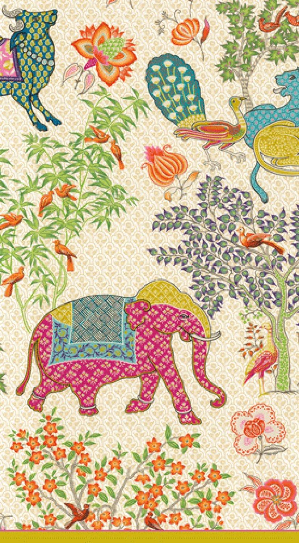 Caspari 3-Ply Paper Le Jardin De Mysore, 15 Count Guest Towel Napkins, Set of 2 by Caspari