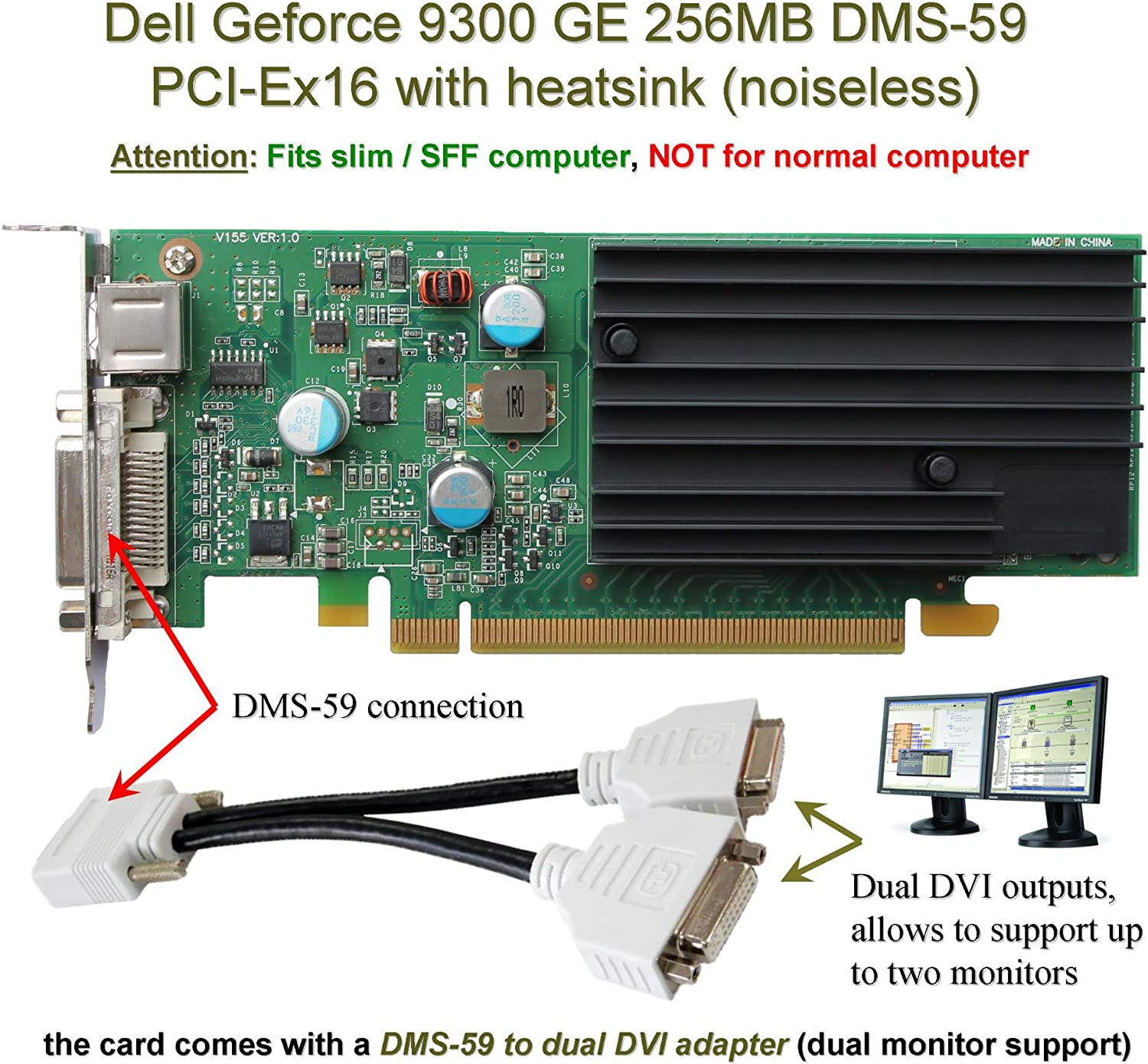 Dell GeForce 9300 GE 256 MB Graphic Card with DMS-59 Port